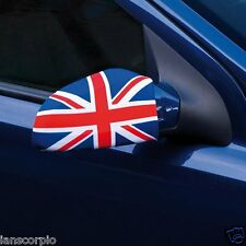 X1 PAIR(2) UNION JACK CAR SIDE MIRROR COVERS EARS UNION FLAG WING MIRROR COVERS