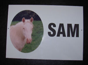Personalised Aluminium Door Signs - External sign for Dog Kennels, Horse Stables