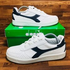 *NEW* Diadora B. Elite (Men's Size 8.5) Low Top Casual Sneaker Shoes White Blue