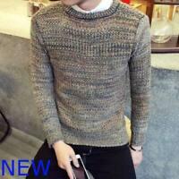 Knit Shirt Sweater Knitwear T-Shirt Pullover Tops Jumper Slim Mens Knitted