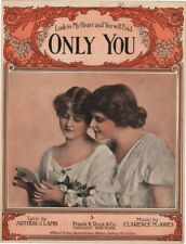 Look in My Heart and You Will Find Only You, vintage sheet music, 1915