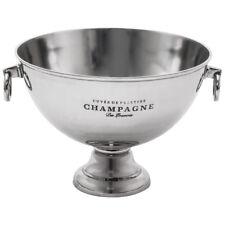 Champagner Kühler aus massivem Metall - Sektschale mit 46cm Durchmesser