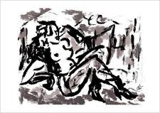 JACQUELINE DITT - Die Sünde - sepia A3 sign.ltd.Original Druck Grafik  Erotik