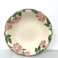"Vintage Franciscan Desert Rose 9"" Round Serving Bowl 1940s California mark"