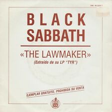 BLACK SABBATH - The Lawmaker * SINGLE 1990 PROMO SPANISH P/S HEAVY METAL HARD