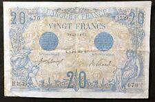 Billet FRANCE 20 F bleu 3 AVRIL 1912