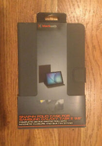 """NIP Snap In Folio Case Samsung Galaxy Tab E 9.6"""" Magnetic Closure Built In Stand"""