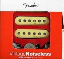 Fender VINTAGE NOISELESS Strat Guitar Pickups w/ 3 Pots Stratocaster 0992115000