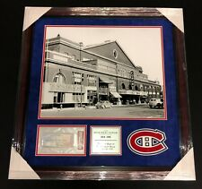 MONTREAL FORUM FINAL GAME MARCH 11th 1996 TICKET PSA FRAMED PIECE