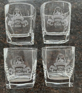 Set Of 4 Mr Jack Daniels 150th Birthday Anniversary Millenium Glasses
