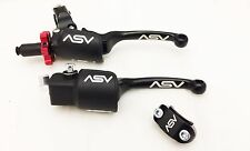 ASV F3 Black Holiday Pro Pack Unbreakable Folding Brake + Clutch Honda TRX 250R