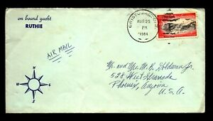 Canal Zone 1964 Airmail Cover - Ship Corner Card - to USA - L32934