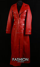 HERITAGE Ladies LONG COAT Red Edwardian Victorian Military Style Fulllength Coat
