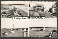 Postcard Milford on Sea nr Lymington New Forest Hampshire lighthouse etc RP
