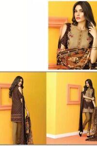ASIM JOFA Luxury EMB Lawn Stitch Suit Shalwar Kameez Medium New