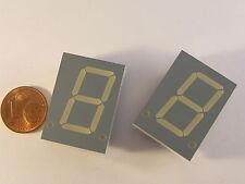"2 pezzi 20,32mm (0,8"") 7-Segment Display Kingbright sc08-11ywa, giallo, Gem. Kath."
