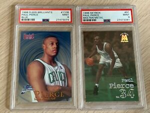 Paul PIERCE 1998 Fleer Brilliants BLUE + Skybox MOLTEN METAL 2x PSA 9 Lot Rookie