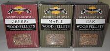 Charcoal Companion Smokehouse-Style Wood Pellets Set Cherry Maple Oak 3pc Lot