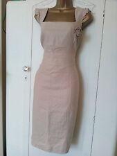 Dunnes dress 10/12 Linen work smart occasion summer holiday cruise cream wiggle