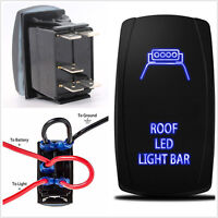 12V Car Auto Rocker Switch Backlit Roof lights Blue LED 5Pins 20A On-Off Switch