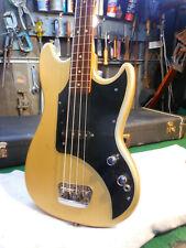 *Vintage* 1971 Fiesta Gold Refin. Fender Musicmaster Bass, 3/4 Fender HS CASE