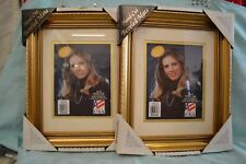"""Set 2X National Picture and Frame Company 14"""" x 17"""" Gold Hand CUT Beveled Mats"""