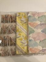 NOS Vintage Gift Wrapping Paper Lot of 3 Shower Wedding Anniversary Sealed