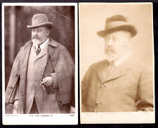 H.M. KEVII VINTAGE 1902-10 REAL PHOTO PC LOT/2