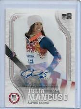 RARE 2018 TOPPS OLYMPICS JULIA MANCUSO ALPINE SKIING FLAG AUTOGRAPH CARD /25