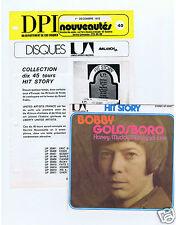 45 RPM SP BOBBY GOLDSBORO HONEY (HIT STORY)+FEUILLE UNITED ARTISTS