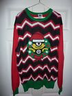Despicable Me Minion Tango Red Ugly Christmas Sweater size Large NWT