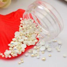 Mini Perle Nagelsticker 3D Nail Art Studs UV Gel Dekoration