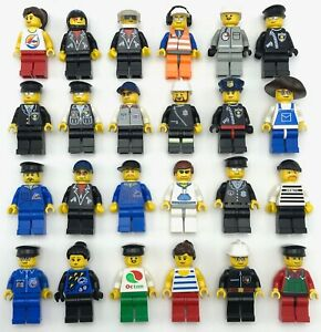 LEGO TOWN CITY MINIFIGURES MEN PEOPLE GUYS GIRLS POLICE FIREFIGHTER YOU PICK!!