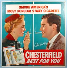1950s Chesterfield Cigarettes Sign Mary Healy Peter Lind Hayes Dr. Seuss Dr. T