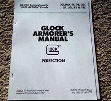 Glock 17 19 20 21 22 23 17L Factory Armorer's Manual