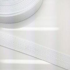 New 5 yards  Length 3/4 Inch Width(20mm) Nylon Webbing Strapping White