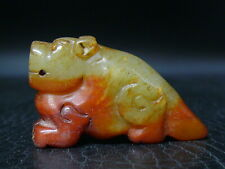 (cNT13) Japan: Beautiful Vintage Gemstone Jade hand carved Netsuke