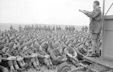 6x4 Photo ww10E9 Normandy Para GBCA 6th Airborne` Div. General Gale Discours