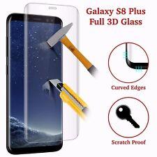 Full incurvée Trempé S8 plus Verre Galaxy 3D protecteur d'écran Crystal Clear LCD