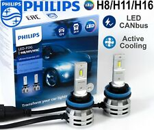 PHILIPS H8/H11/H16 LED Ultinon Essential Car Head Light Bulbs 6500 K +200% 12-24