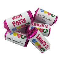 Personalised Mini Love Heart Sweets Favour Hen Night Party Theme Include Sweets