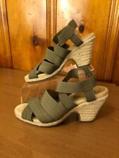 Aerosoles Women's Wedge Sandals Size 9.5 M Strapy Fabric Elastic Upper