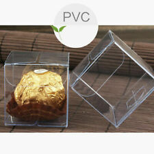 Cube Clear Candy Chocolate Boxes Wedding Favor Scratch Party Gift Sheer Decor
