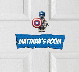 Personalised Spiderman Vinyl Door Sign Avengers Superhero Spiderman Batman
