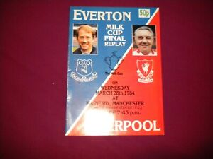 EVERTON V LIVERPOOL LEAGUE CUP FINAL REPLAY AT MANCHESTER CITY 1984