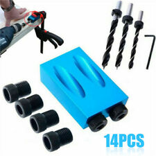 1 set 15° Pocket Hole Screw Jig Dowel Drill Carpenters Woodworking Tools Locator