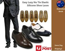 Easy Lazy No Tie Elastic Silicone Shoelaces Leather Work Formal Shoelaces Unisex