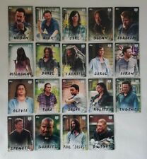 Topps Walking Dead Season 7 Characters Complete Trading Card Chase Set