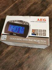 Digitaler wecker mit Projektion AEG MRC4119 PN schwarz Uhrenradio Musik Uhr