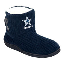 Dallas Cowboys NFL Women's 2-Button Knit Slipper Boots, Size Small (5/6) - NWT